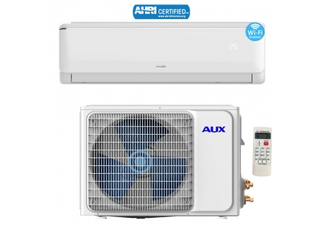 AUX 24000BTU Ductless Air Conditioner Heat Pump MINI Split 2 TON 230V 17 SEER WiFi Control 12 Ft Flared Copper Tubing